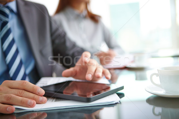 Stock photo: Using touchpad
