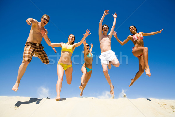 Stock photo: Energetic people