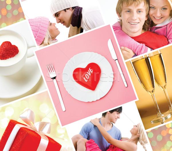 Lovers collage Stock photo © pressmaster