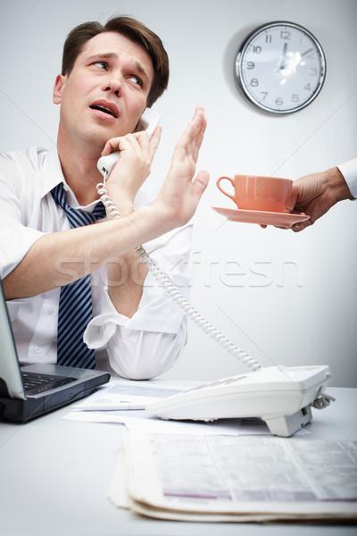 No more coffee breaks Stock photo © pressmaster