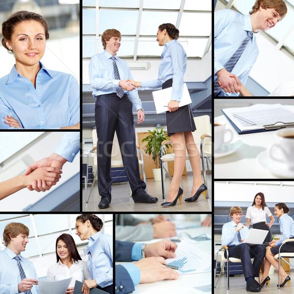 Werken dag collage team Stockfoto © pressmaster