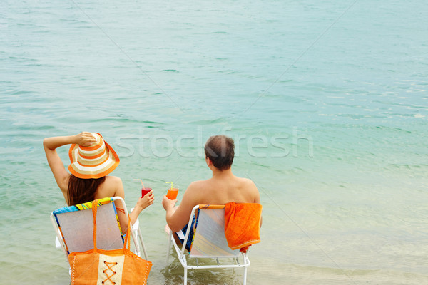Refreshing by water Stock photo © pressmaster