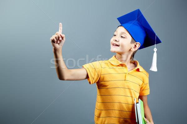 Işaret portre eğitim erkek geri Stok fotoğraf © pressmaster