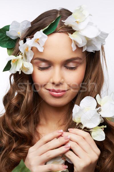 Eye-closed beauty Stock photo © pressmaster