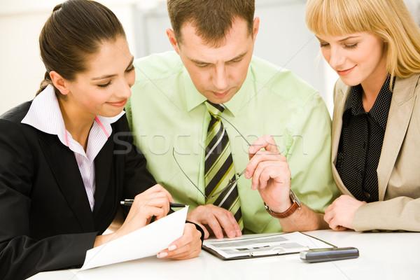 Zdjęcia stock: Planowania · portret · udany · posiedzenia · biuro