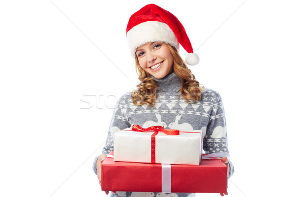 Santa girl Stock photo © pressmaster