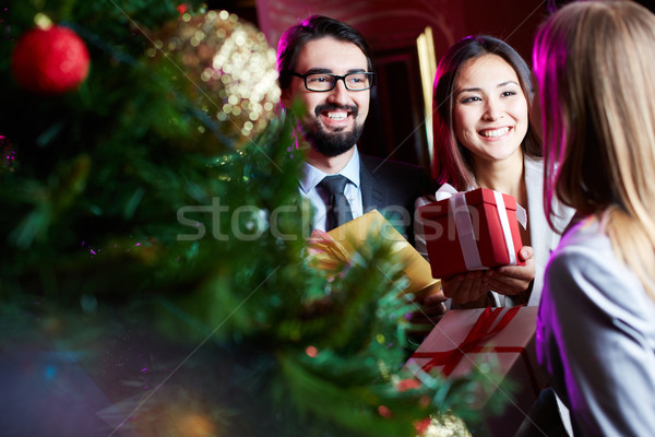 Congratulating on xmas Stock photo © pressmaster