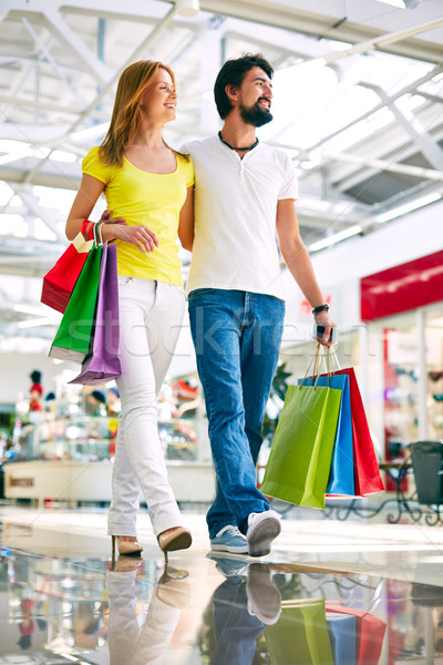 Consumidores comércio centro retrato caminhada Foto stock © pressmaster