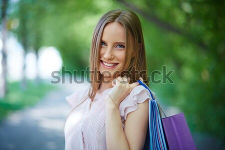 Shopper outdoors Stock photo © pressmaster