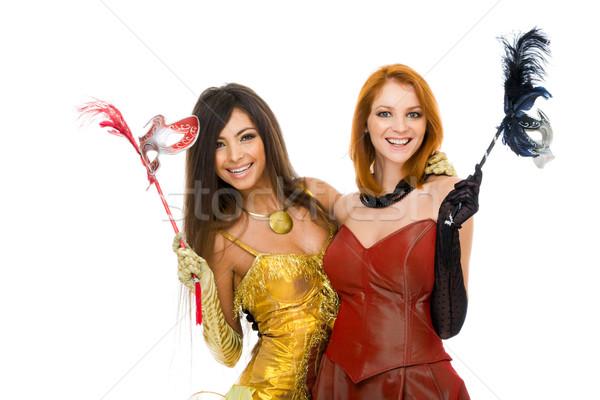 Mutlu portre kadınlar akıllı Stok fotoğraf © pressmaster