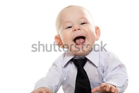 Szczęśliwy szef portret baby chłopca Zdjęcia stock © pressmaster