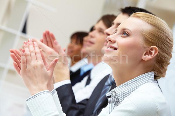 Foto stock: Idea · foto · manos · reunión
