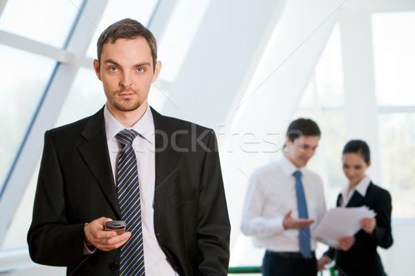 Stockfoto: Leider · portret · ernstig · zakenman · naar · camera