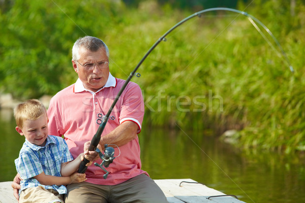 Fishing together Stock photo © pressmaster