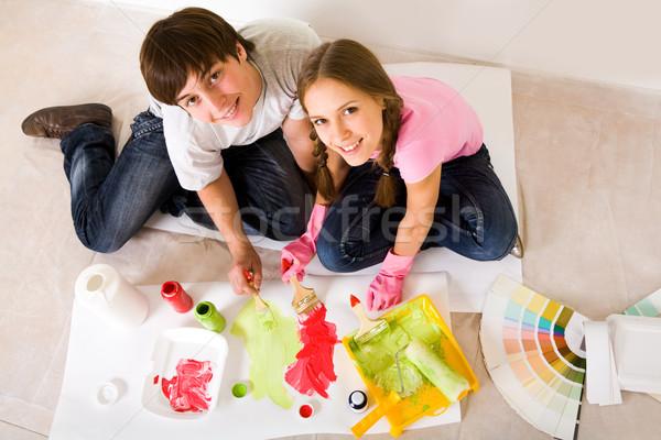Mixing colors Stock photo © pressmaster