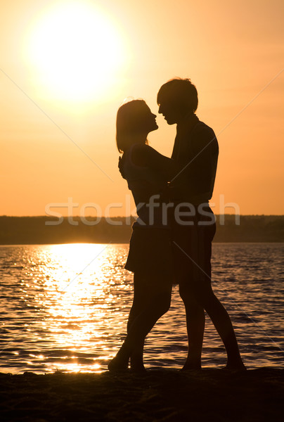Proximidade romântico casal outro lago Foto stock © pressmaster