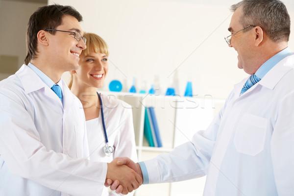Acuerdo foto médico jóvenes amistoso Foto stock © pressmaster