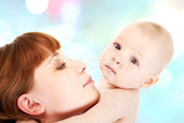 любящий матери осторожный ребенка белый Сток-фото © pressmaster