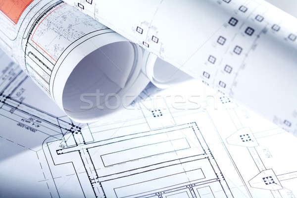 Drafts of new house Stock photo © pressmaster