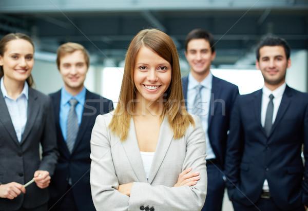 Stockfoto: Geslaagd · zakenvrouw · groep · vriendelijk · gelukkig