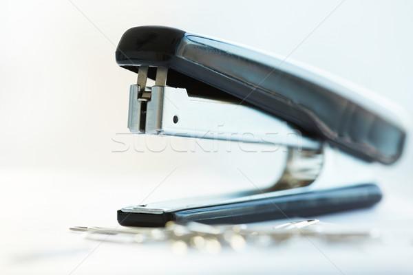 Cucitrice macro nero ufficio metal segretario Foto d'archivio © pressmaster