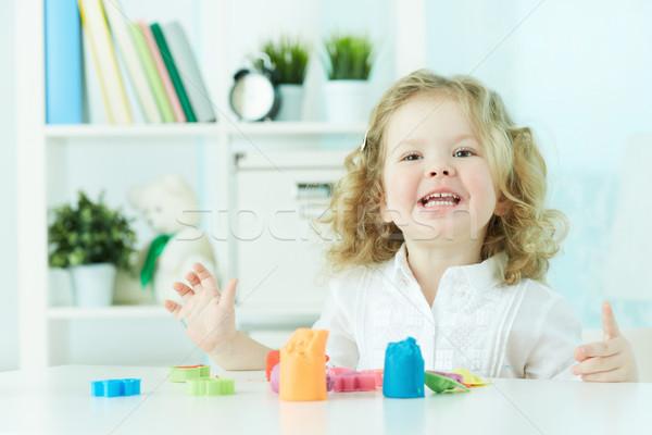 お気に入り 趣味 興奮した 子 美 ストックフォト © pressmaster