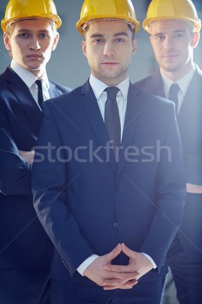 Teamwerk verticaal portret business leider leidend Stockfoto © pressmaster