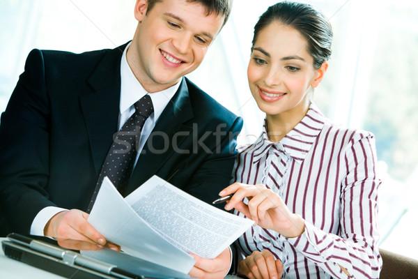 Stock fotó: Megbeszélés · kép · új · üzlet · férfi · csapat