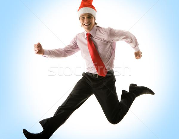 Running into Christmas Stock photo © pressmaster