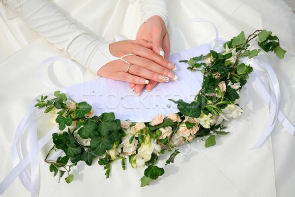 Photo stock: Mains · bouquet · image · Homme · fleurs