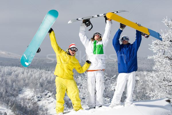 örömteli srácok portré három boldog fiatal Stock fotó © pressmaster