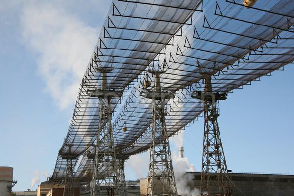 Nükleer güç görüntü towers telleri mavi gökyüzü Stok fotoğraf © pressmaster