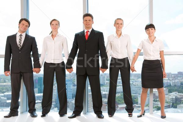 üzleti csapat portré okos üzleti csoport áll csetepaté Stock fotó © pressmaster
