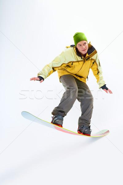 Snowboarding man  Stock photo © pressmaster