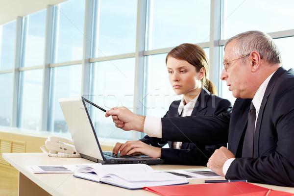 Сток-фото: компьютер · работу · Boss · помогают · секретарь · тип