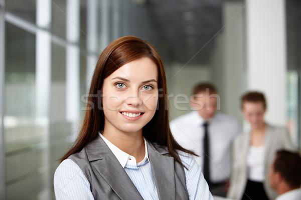 Dość pracodawca piękna kobieta interesu patrząc kamery Zdjęcia stock © pressmaster