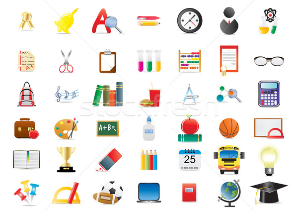 Stock photo: school icons