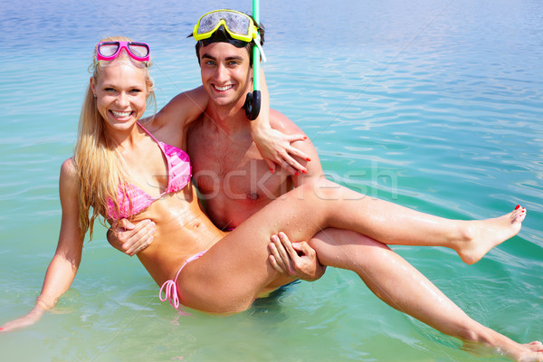 Couple in water Stock photo © pressmaster