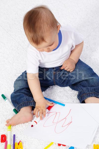 Little artist Stock photo © pressmaster