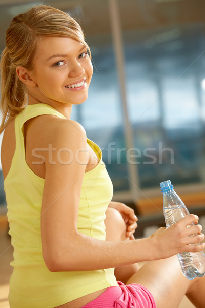 Female with water Stock photo © pressmaster