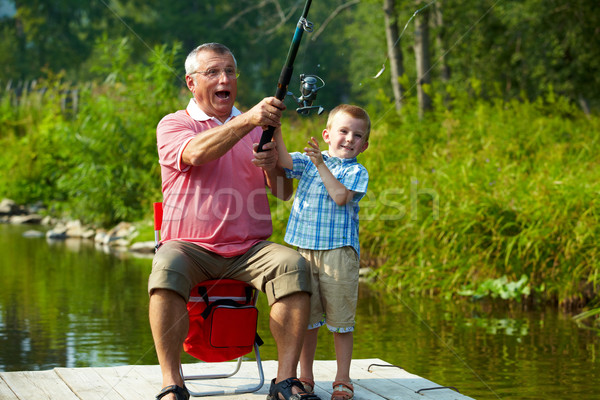 Throwing fishing tackle Stock photo © pressmaster