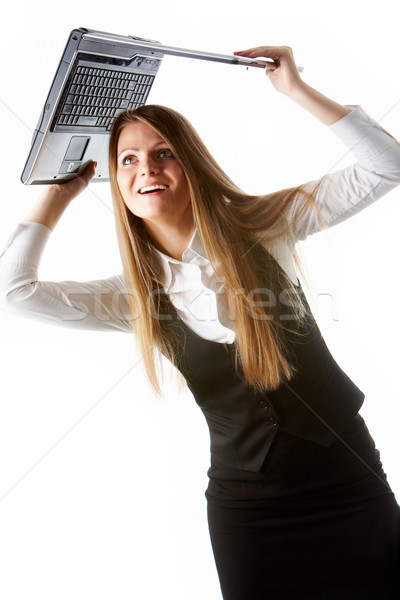 Woman with laptop Stock photo © pressmaster