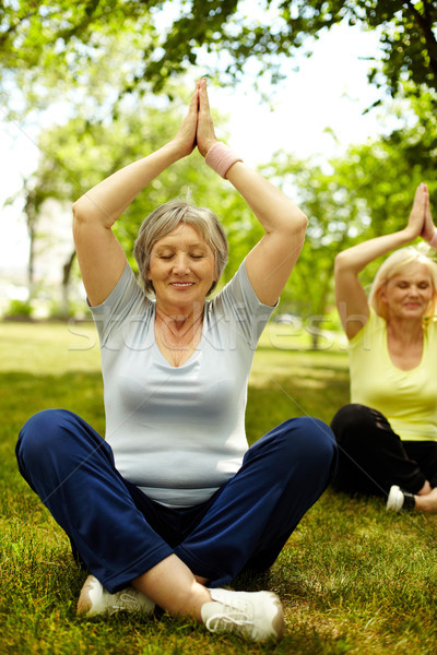 Practicing yoga Stock photo © pressmaster