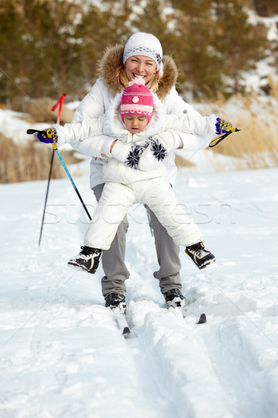 Skiing together Stock photo © pressmaster