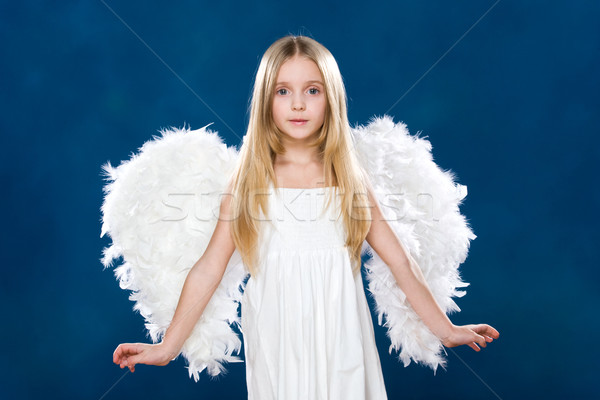 Cute ange portrait heureux blanche Photo stock © pressmaster