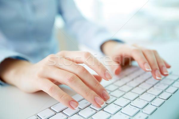Typing worker Stock photo © pressmaster
