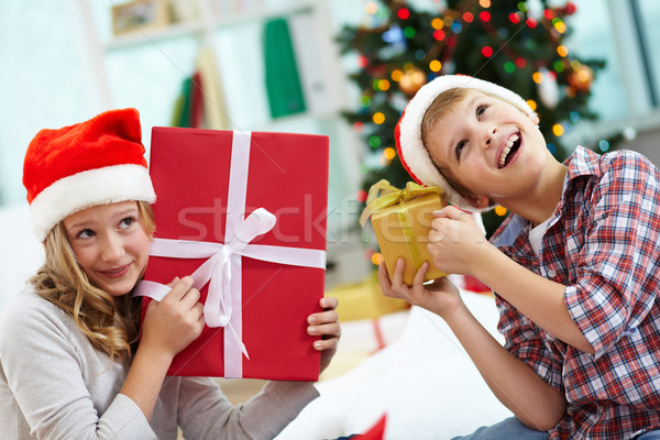 Kids with gifts Stock photo © pressmaster