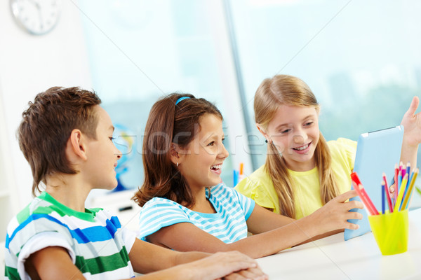 Modern schoolwork Stock photo © pressmaster