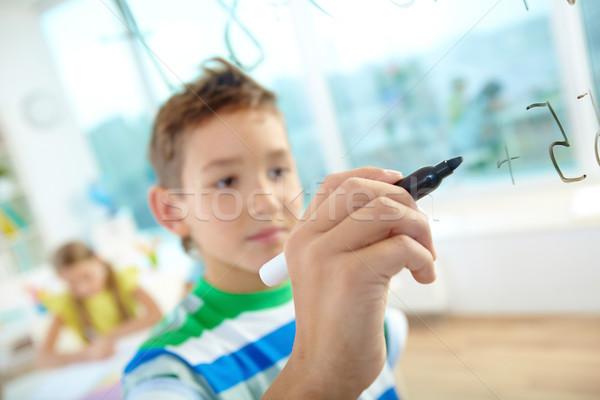 Дать числа стороны умный мальчика прозрачный Сток-фото © pressmaster