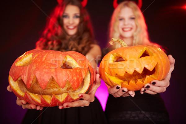 Halloween pumpkins Stock photo © pressmaster